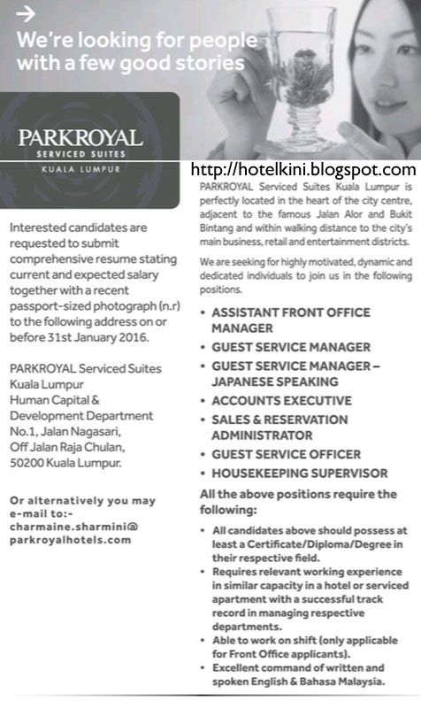 10 Best Images About Malaysia Hotel Jobs Vacancies 2016 On