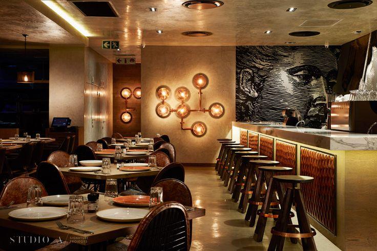 Studio A Signature Projects/ Johannesburg, South Africa. Gemelli Cucina / Bar & Restaurant Design