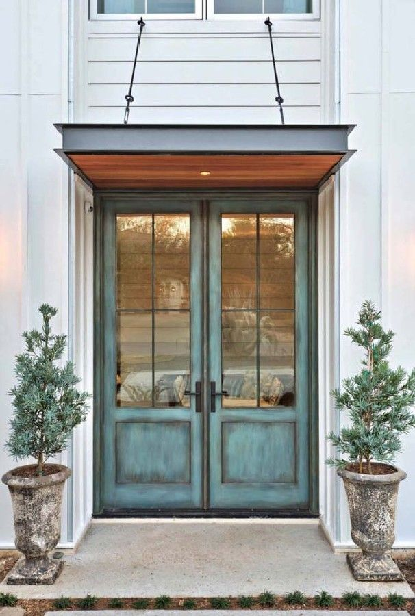 42 Stunning Exterior Home Designs: Most Stunning Farmhouse Front Door Design Ideas (35