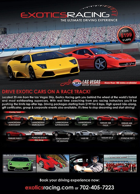 Exotics Racing in Las Vegas...Hey! This is where I work =]!