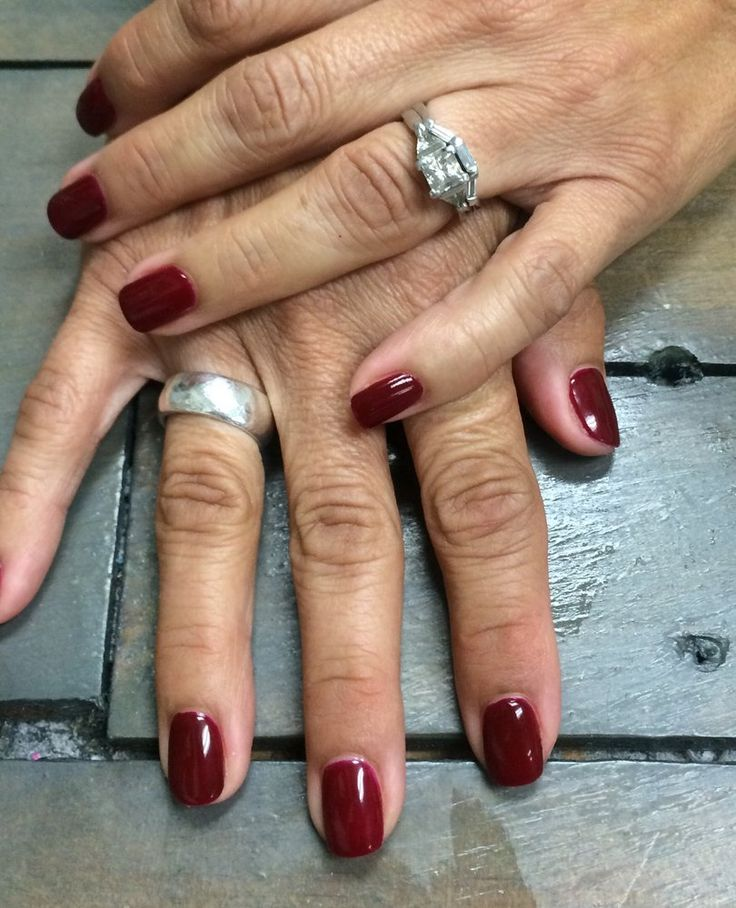 Gorgeous new CND Shellac polish in Rouge Rite!