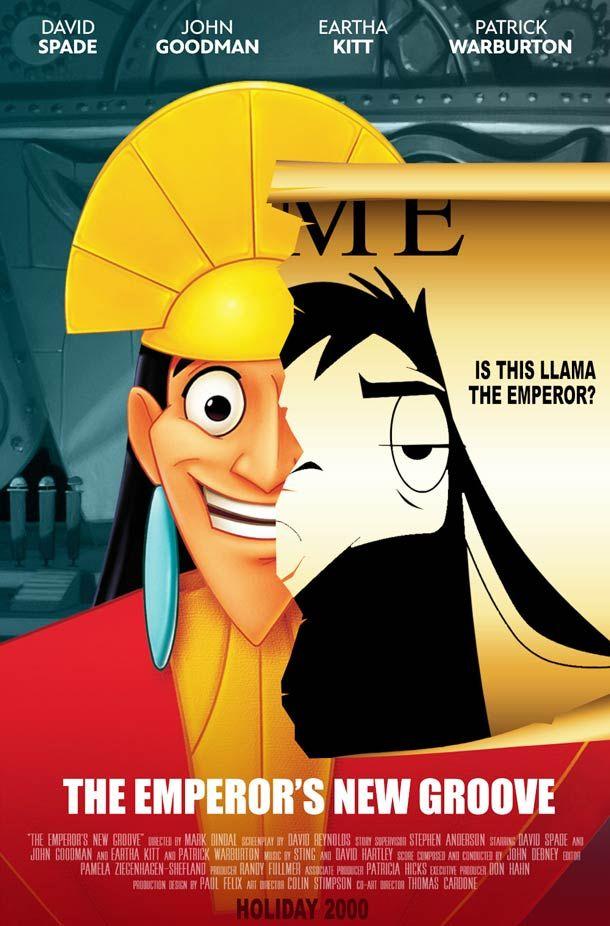 Overly Dramatic Disney Movie Posters ou Quand Disney imagine des affiches sérieuses pour ses propres films…  Kuzco l'empereur mégalo