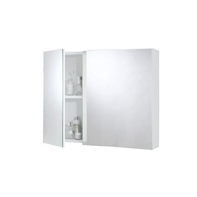 Armadietto a specchio Basic L 70 x H 15 x P  62 cm bianco-34559203