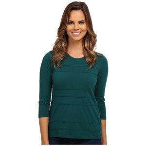 Mod-o-doc Supreme Jersey Raw Edge Seamed Panel Tee Women's T Shirt