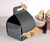 Caja para tartas con asa y tapa