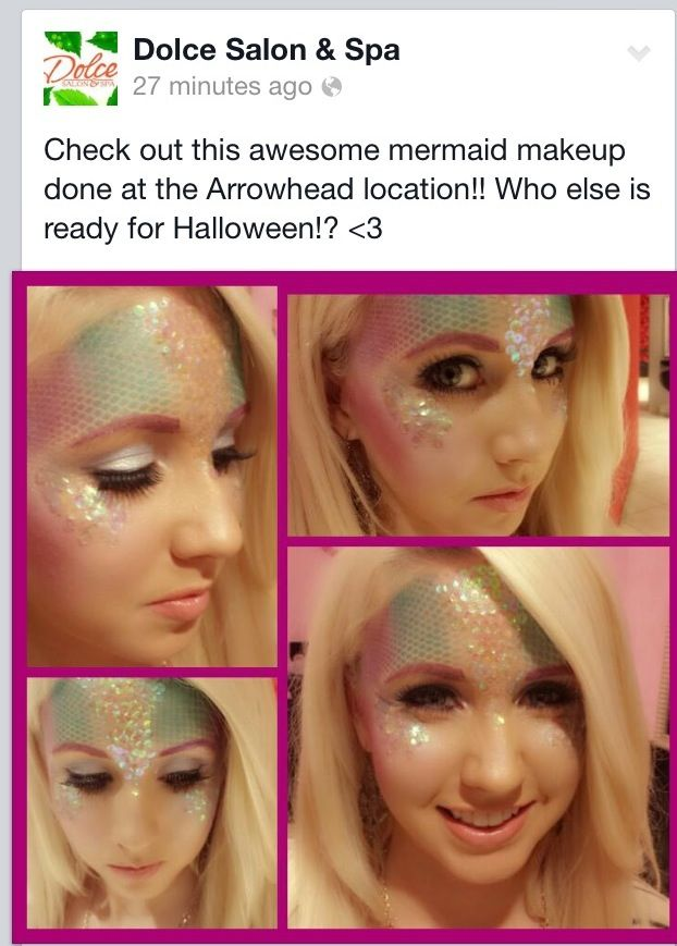 Saw this on their fb page... Definitely getting this done for Halloween!!!   Mermaid makeup