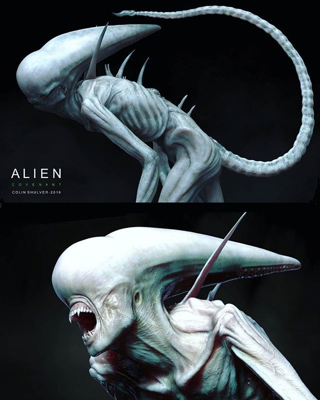 "6,436 Likes, 28 Comments - @gsgbiohazard on Instagram: ""regram @luisnostromo More Colin Shulver awesome creations. Concept art for Alien Covenant ___ ___…"""