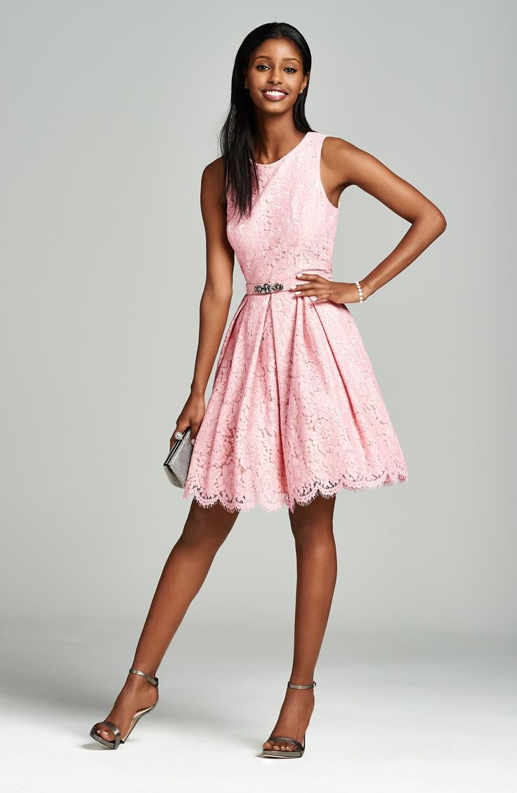 Pink Lace Wedding Guest Dress : Ideas about pink lace dresses on