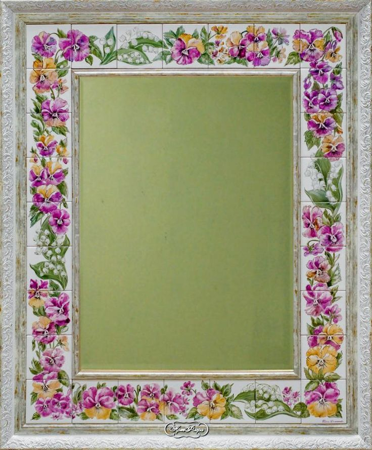 """Зеркала """"Анютки и ландыши"""" - Ярмарка Мастеров - ручная работа, handmade"""