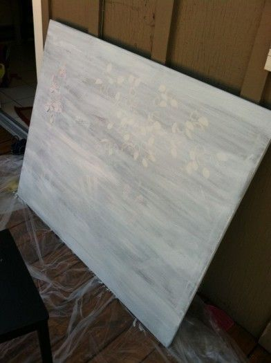buy canvases at the thrift store and paint over them. good idea, new canvases are stupid expensive.