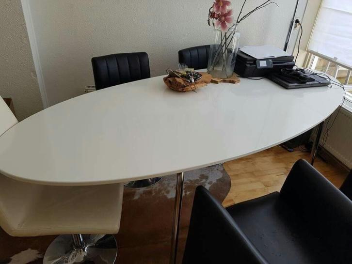 Ikea Gidea tafel hoogglans wit