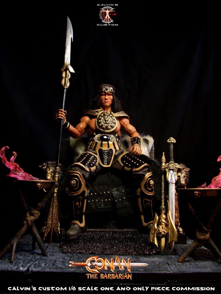 Calvin's Custom 1/6 one sixth scale Arnold Schwarzenegger as King Conan, based on Conan the Barbarian 1982