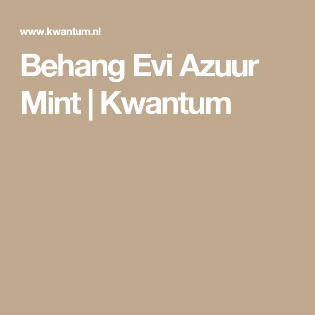 Behang Evi Azuur Mint | Kwantum
