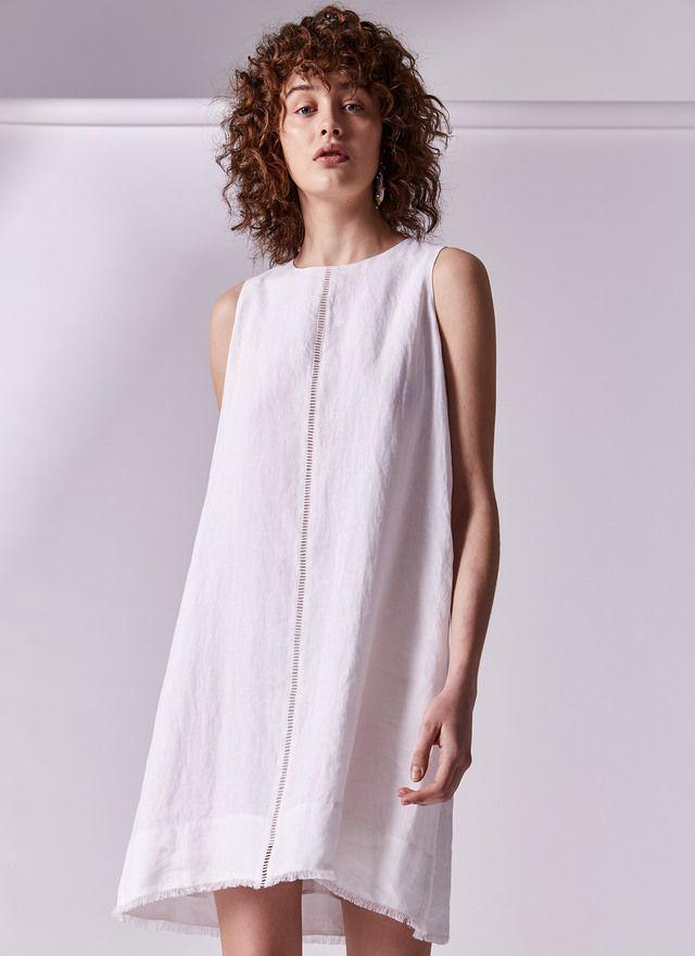 d8cfe81e Vestido blanco de lino | U Women's Collection #Umusthave en 2019 | Moda  para mujer, Vestidos blancos y Moda