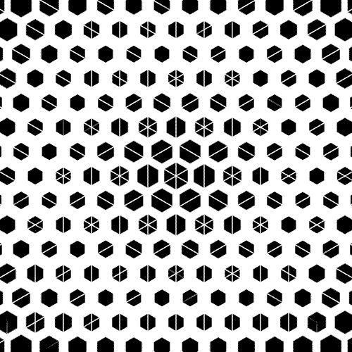 techno hexagons
