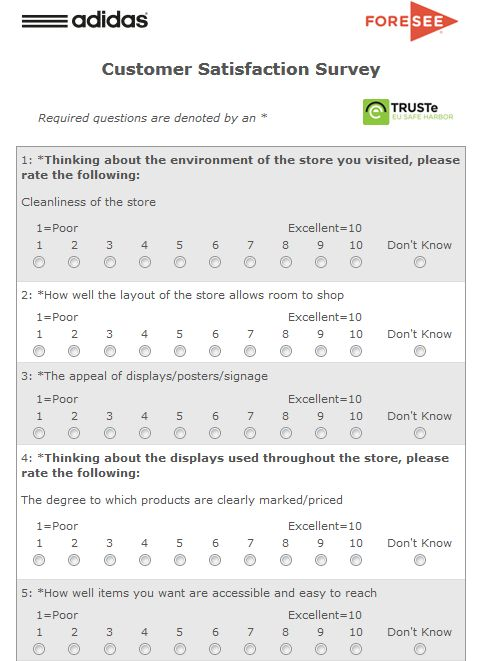 Customer Satisfaction Survey Form Business Questionnaire Examples