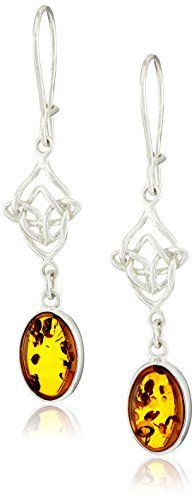 Sterling Silver Honey Amber Celtic Earrings *** To view further for this item, visit the image link.