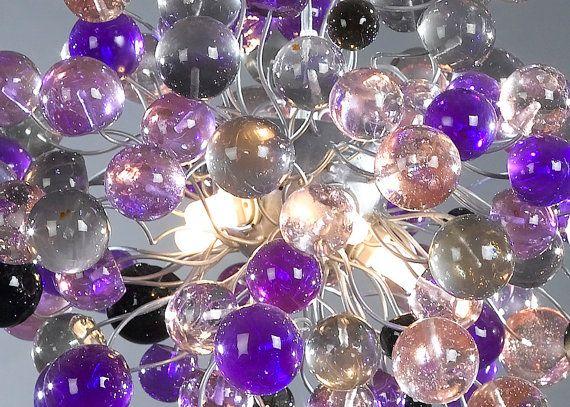 Luce plafoniera il colore di tonalità viola bolle di yehudalight