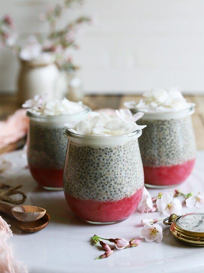 Earl Grey Rhubarb Chia Pudding Homegrown Provisions Recipe Chia Pudding Rhubarb Rhubarb Compote