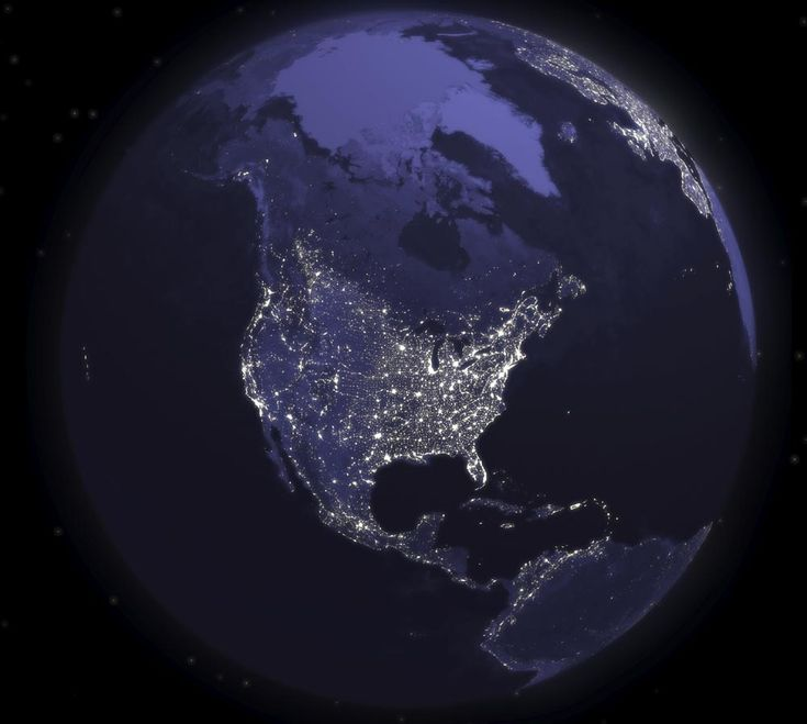 Gorgeous. Earth from space at night (United States view)