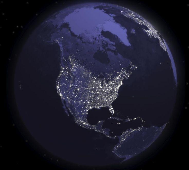 night light footprint north america nasa - photo #19