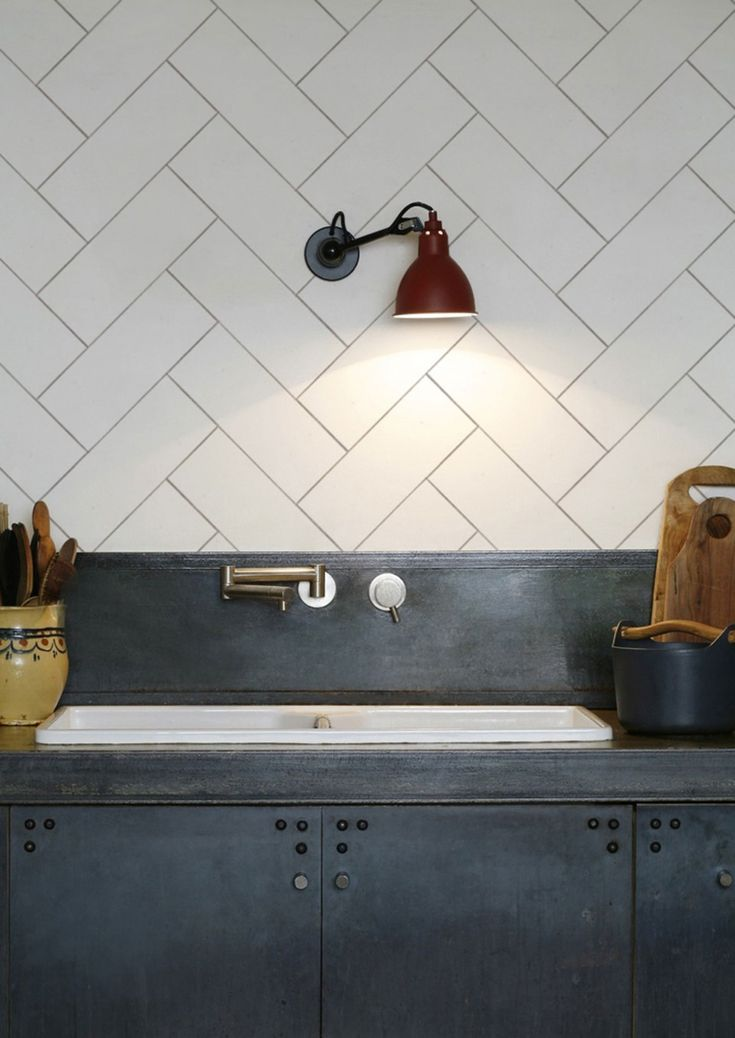 Kitchenwalls Wallpaper Splashback - Herringbone