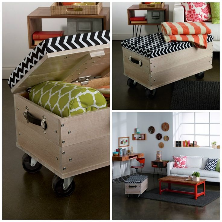 Build this awesome ottoman! DIY rollling ottoman project. www.rockler.com/diy