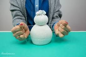 çoraptan kardan adam yapılışı ile ilgili görsel sonucu