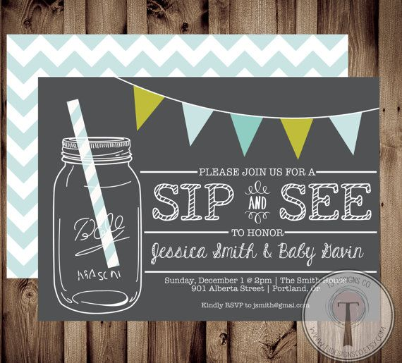 Sip and See Invitation BABY SHOWER invitation baby by T3DesignsCo, $12.99