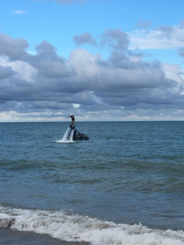 Tourist experiencing Flyboard at Bijao Beach, Rio Hato, Cocle - Panama