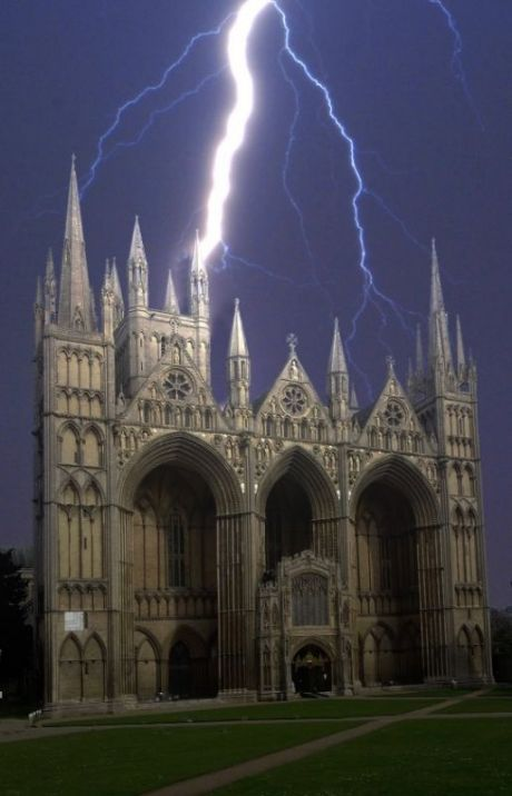 Peterborough Cathedral ,Cambridgeshire, England. One of the finest examples of Norman Cathedrals in England
