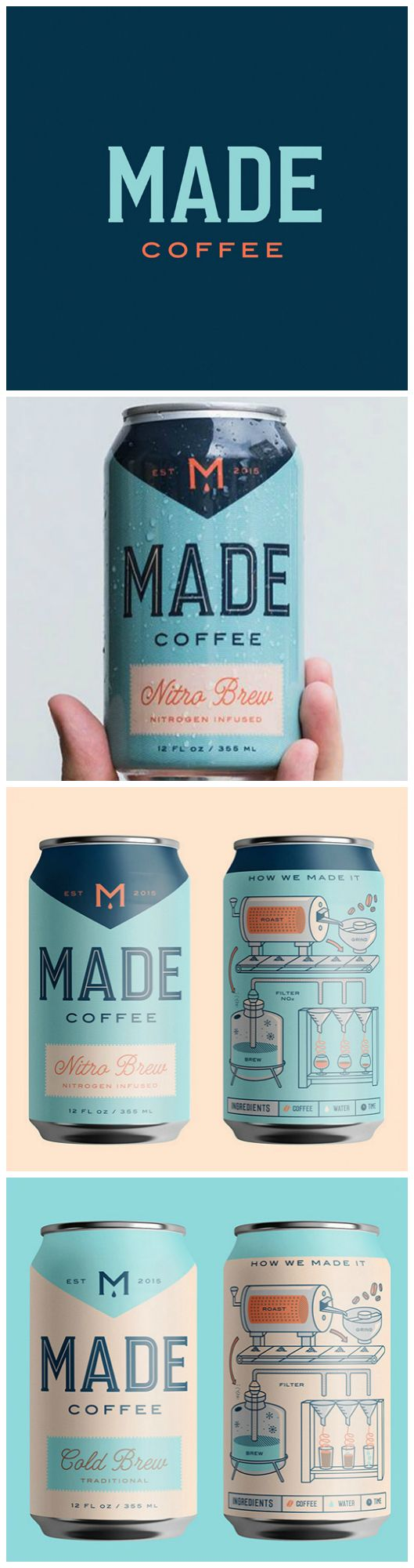Downtown St. Petersburg, Tampa Bay Area Coffee Rebranding  Designed by:Hype Group Project Name:Made Coffee Category:#Beverages #drink #coffee