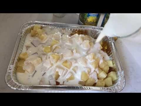 Cóctel De Gelatina Con Frutas - Gelatina De Piña Con Fruta Y Lechera - YouTube