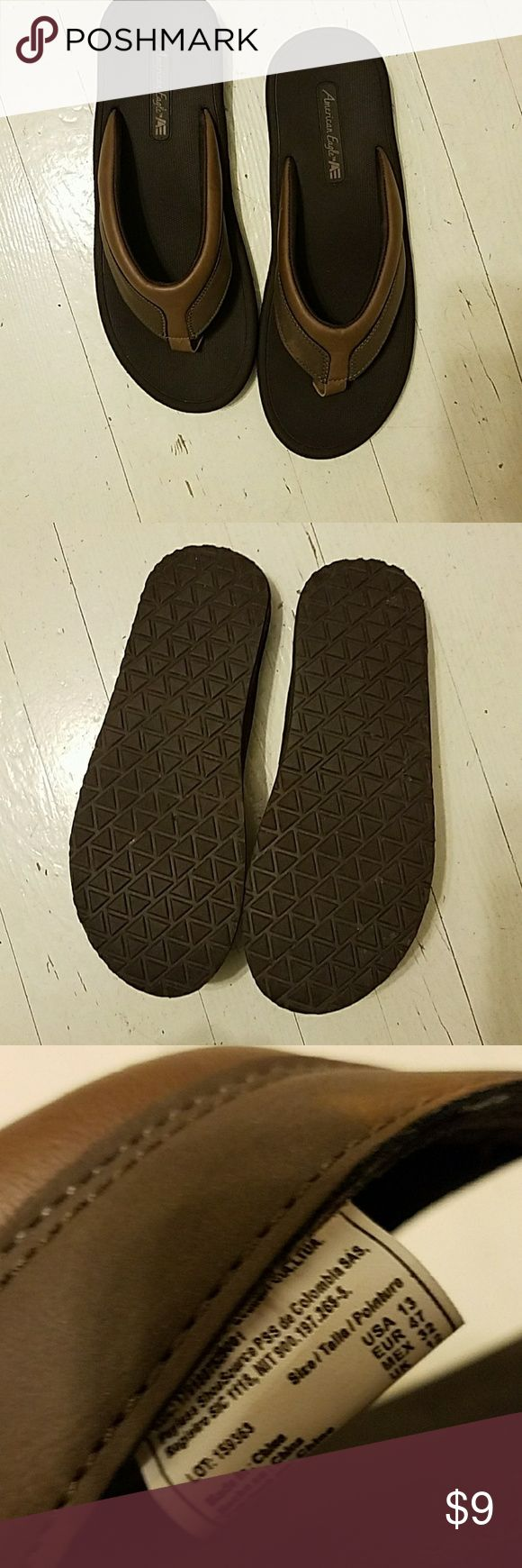 American Eagle AE men's flip flops worn one time size 13 American Eagle by Payless Shoes Sandals & Flip-Flops
