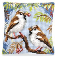 Sparrows in a Tree Pillow Top