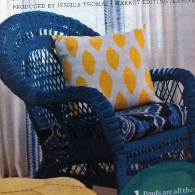 Painted wicker chair from bhg