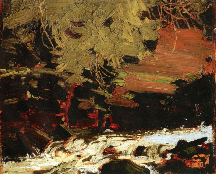 The Athenaeum - Spring Foliage on the Muskoka River (Tom Thomson - )