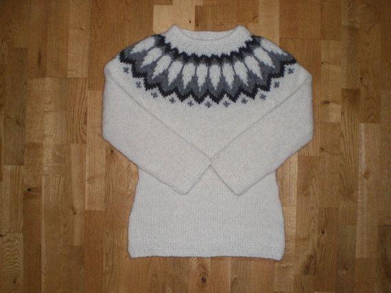 Isländische Pullover/Pullover, Damen Pullover, weißer Pullover, Isländische Wolle, XS-S-M-L-XL-2XL-3XL-4XL-5XL-6XL, kundenspezifisch konfektioniert.
