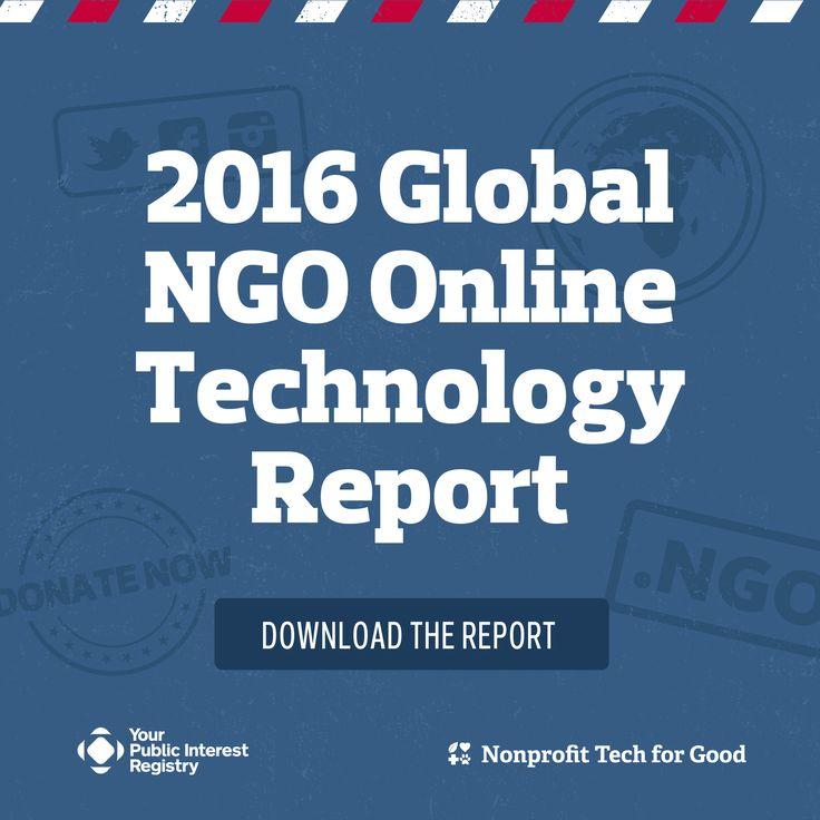 Based upon the survey results of 2,780 NGOs worldwide, the 2016 Global NGO Online Technology Report is unprecedented and provides valuable insight into the global NGO sector and its use of online technology.