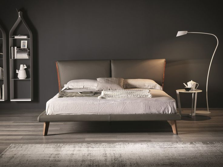 IMITATION LEATHER DOUBLE BED ADAM BY CATTELAN ITALIA | DESIGN GINO CAROLLO