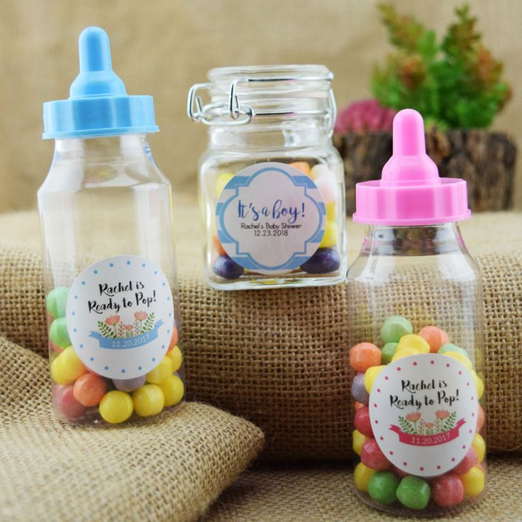 baby shower circle label stickers for party favors u0026 invitations