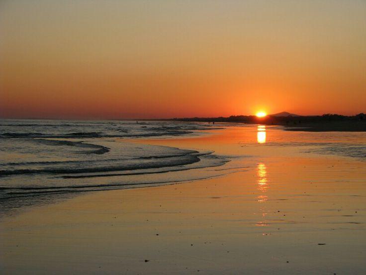 Coucher de soleil sur la plage d'Altura