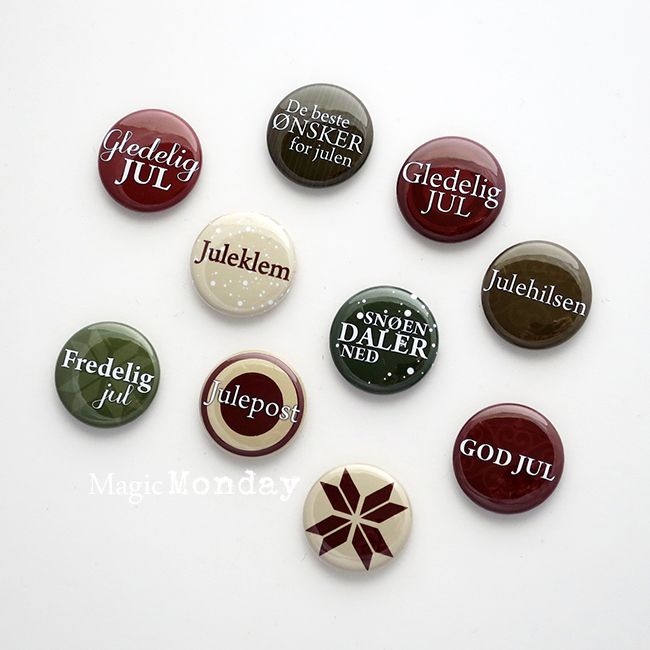 MagicMonday Embellishments - Gledelig Jul. http://www.anma.no