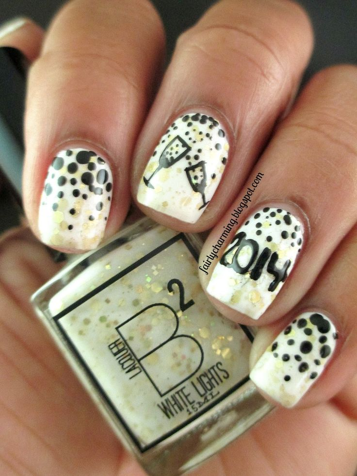8 best nails-silvester images on Pinterest | Nail scissors, Black ...