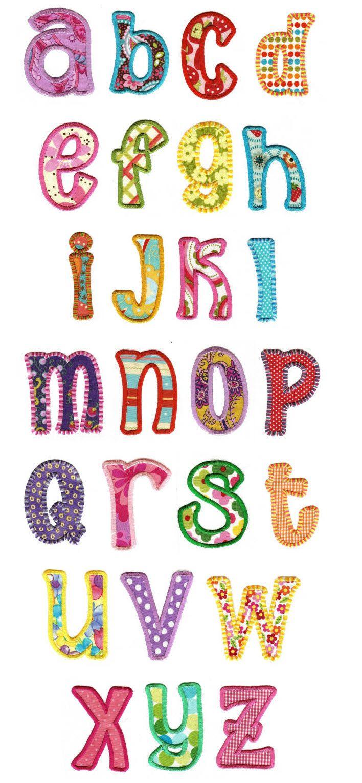 Embroidery | Machine Applique Alphabet | Sunshine Applique Alphabet $20