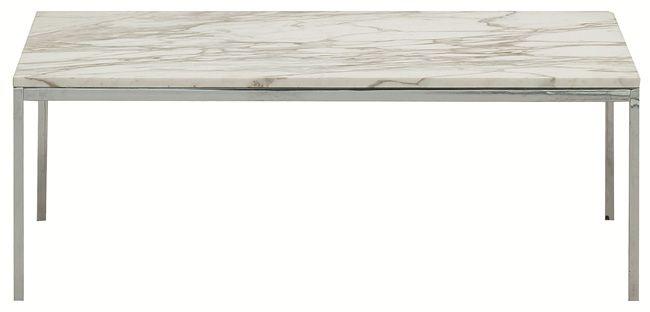 High gloss blue florence knoll coffee table for the - Florence knoll rectangular coffee table ...
