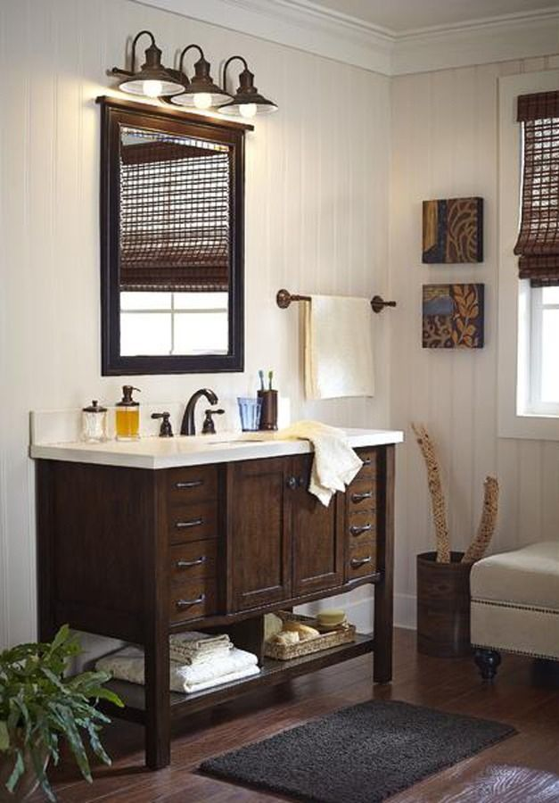 Shop Allen + Roth Kingscote Espresso Undermount Single Sink Bathroom Vanity  With Engineered Stone Top (Common: X Actual