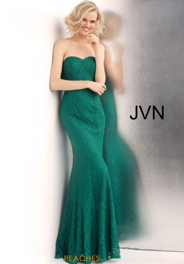 fe7c5efa0ca9 Show off your curves at your special occasion and rock this breathtaking JVN  by Jovani dress JVN62712. A flattering sweetheart strapless neckline hugs  your ...