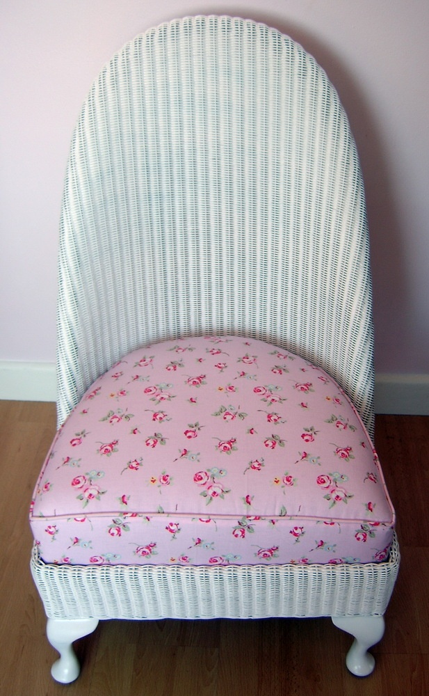 Upcycled Lloyd Loom Nursing Chair