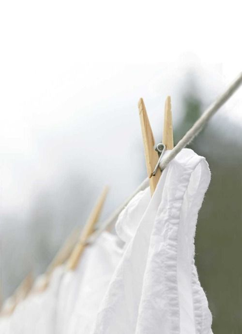 whites hung to dry